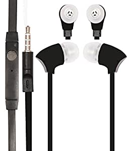 Jkobi HQ 3.5mm In Ear bud Earphones Mini Size HeadSet Headphone Handsfree with Mic for Samsung Galaxy S3 Neo i9300-Black