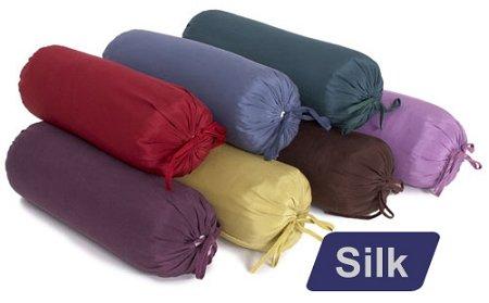 Yoga Direct Silk Neck Pillow (with Buckwheat Hulls) (Eggplant Purple)