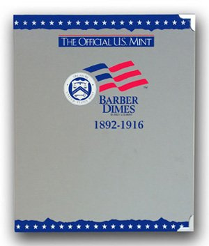 US Mint / Coin Album Barber Dimes, 1892-1916 - By Whitman