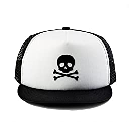Born to Love - Baby Boy Infant Trucker Hat Snap Back Sun Hat Skull - M (53 cm 2-5 years)