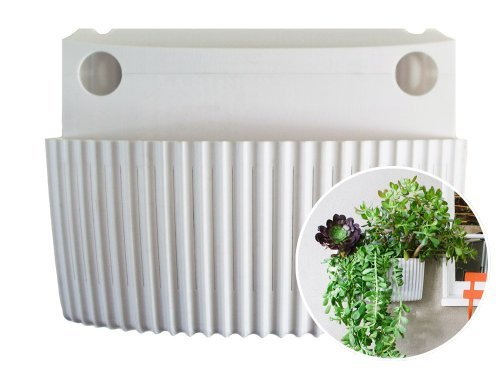 Living Wall Planter, Vertical Garden, Indoor/Outdoor Woolly Pocket (works indoors and outdoors) (Color: White) Living Wall Planter Vertical Garden (Modular, Sustainable, Recycleable) Hanging Wall Planter