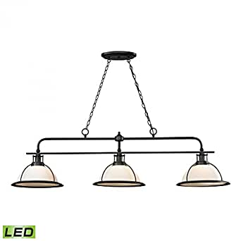 light led kitchen island billiard pendant light fixture amazon