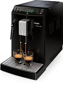 Saeco HD8761/01 Minuto Kaffeevollautomat, Dampf-/Heißwasserdüse, schwarz
