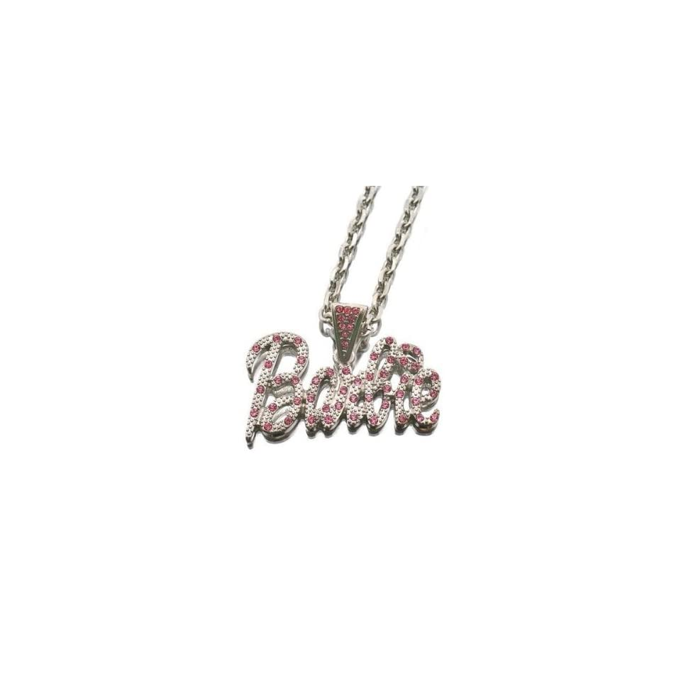 NICKI MINAJ BARBIE Pink Friday Pendant Chain Silver Multi