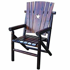 Char-Log Single Arm Chair with Star from Leigh Country