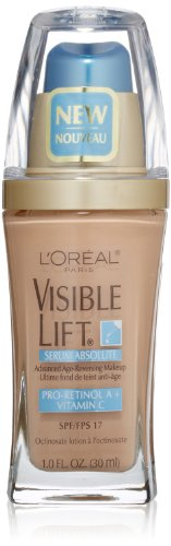 L'Oreal Paris discount duty free L'Oreal Paris Visible Lift Serum Absolute Advanced Age-Reversing Makeup, Nude Beige, 1.0 Ounces
