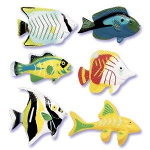 Tropical Fish Assortment For Cake Decorations - 6 Pcs