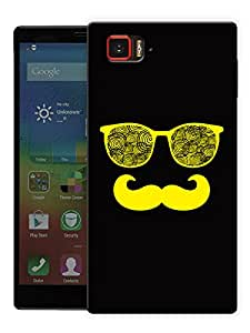 "Moustache Man In Yellow Printed Designer Mobile Back Cover For ""Lenovo Vibe Z2 Pro K920"" By Humor Gang (3D, Matte Finish, Premium Quality, Protective Snap On Slim Hard Phone Case, Multi Color)"