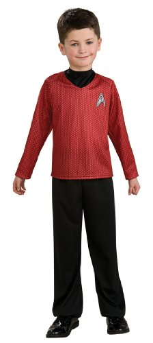 Star Trek Movie Child's Red Shirt Costume with Dickie and Pants