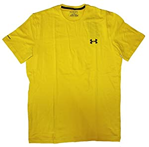 Under Armour Charged Cotton Short Sleeve - Mens (Yellow (735), Large)