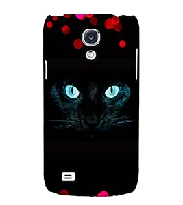 Fuson 3D Printed Cat Designer back case cover for Samsung Galaxy S4 Mini - D4490