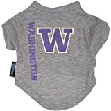 NCAA Washington Huskies Pet T-Shirt, Team Color, X-Large thumbnail