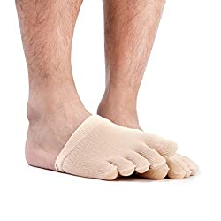 Imported 1 Pair Footful Unisex Five Fingers Half Toe Socks Sports Toes Protection Nude