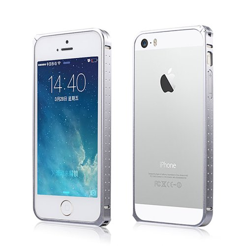 Moon Monkey Ultra-Thin Luxury Aluminium Alloy Metal Bumper Hard Case For Iphone 5 5S (Mm344) (Silver)