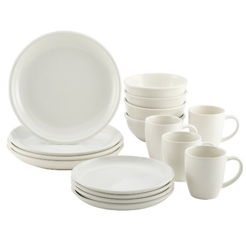Rachael Ray Dinnerware Rise Collection 16-Piece Set, White