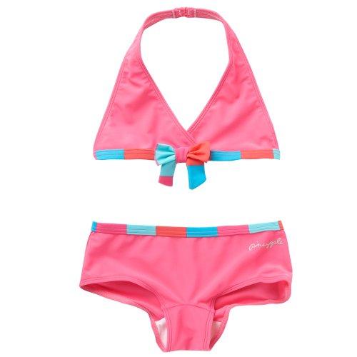 Pineapple Girl's Pink Striped Trim Bikini
