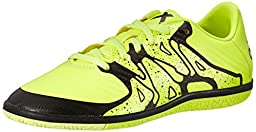 adidas Performance X 15.3 Indoor Soccer Shoe (Little Kid/Big Kid),Solar Yellow/Solar Yellow/Black,11.5 M US Little Kid