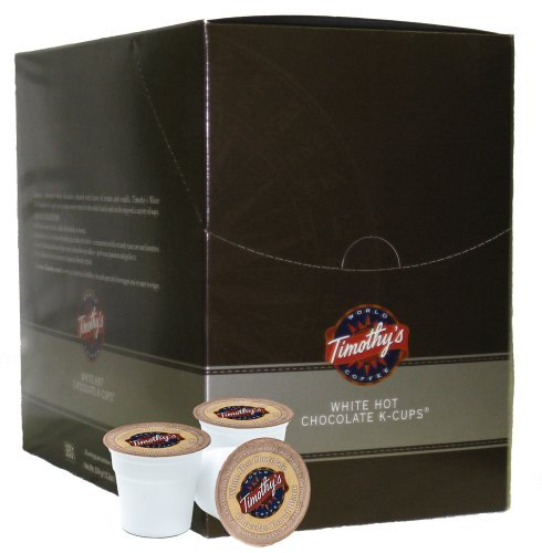 Timothy's World Coffee Chocolate, White, K-Cup Portion Pack for Keurig Brewers 88-Count