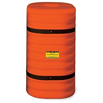 "Eagle 1712OR Hi-Vis Column Protector, 24"" Length x 24"" Width x 42"" Height, For 12"" Column, Orange"
