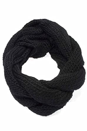 Knitted Snood Scarf / Cowl Style A/W Grab on Bargain Warm Neck (Black)
