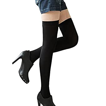 FUNOC Fashion Sexy Womens Over Knee Thigh High Stockings Socks