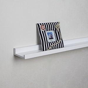 ellehome wausau photo ledge wall shelf 24 l. Black Bedroom Furniture Sets. Home Design Ideas