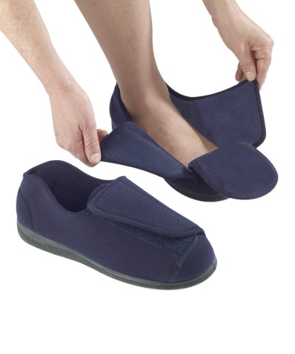 Mens Extra Extra Wide Slippers Swollen Feet Velcro