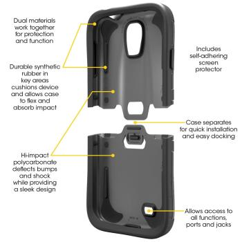 OtterBox Reflex Series Case for Samsung GALAXY S4. Samsung GALAXY S4 case.