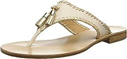 Jack Rogers Women\'s Alana Dress Sandal,Bone/Gold,9.5 M US