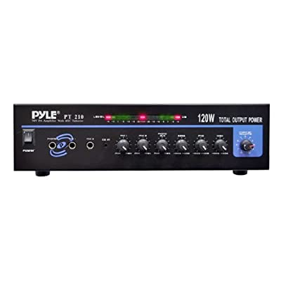 Pyle Home PT210 120-Watt Microphone PA Mono Amplifier with 70-Volt Output from PYLE-HOME