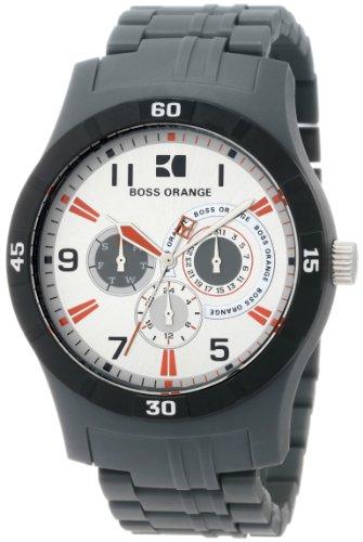 Hugo Boss Men's 1512534 HO2103 BOSS Orange Chronograph Grey Resin Bracelet Watch