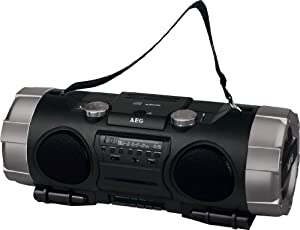 AEG SRP 4335 Stereo-Radiorecorder (CD/MP3-Player, 400 Watt, USB 2.0) schwarz-anthrazit