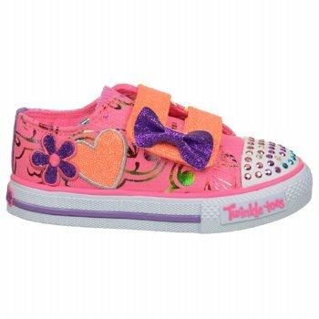 Skechers Kids' Twinkle Toes-Double Adore Sneaker Infant/Toddler (Neon Pink/Lavender 5.0 M) front-741527