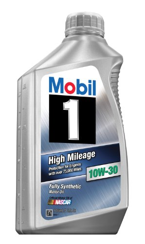 Mobil 1 98JD37 10W-30 High Mileage Synthetic Motor Oil - 1 Quart (10w30 Oil 1 Quart compare prices)