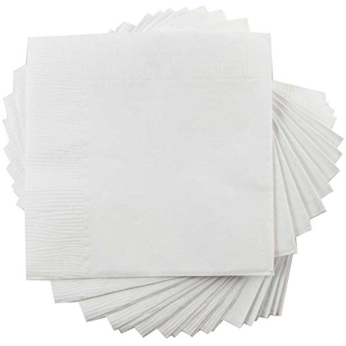 JAM Paper Tablewares - Paper Napkins - Medium Lunch Size (6 1/2