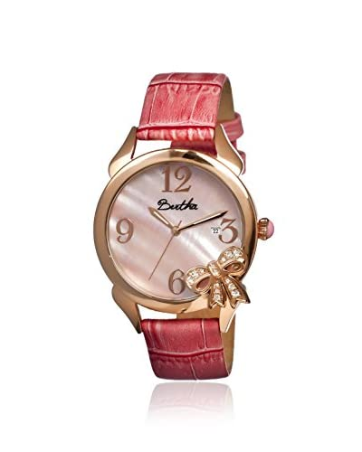 Bertha Women's BR2104 Bow Light Pink Leather Watch