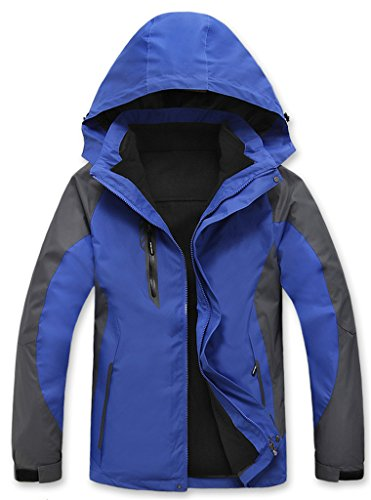 Retrograder Waterproof Mountain Fleece Detachable Lining Windproof Ski Jacket B159-Blue-XXXXL (Saint Louis Blues Snapback compare prices)