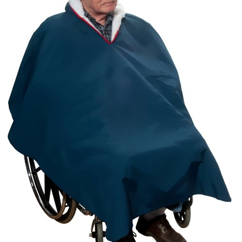 Warm Winter Lined Poncho for Wheelchair Users - 1