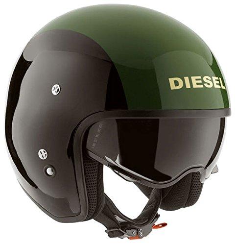 DIESEL ディーゼル Hi-Jack Black/Green Helmet ジェットヘルメット ブラック/グリーン S(55~56cm)