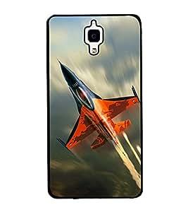 printtech Superfast Plane Jet Sky Back Case Cover for Xiaomi Redmi Mi4 , Xiaomi Mi 4