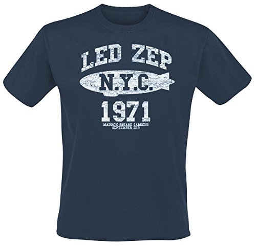 Led Zeppelin NYC 1971 T-Shirt blu M