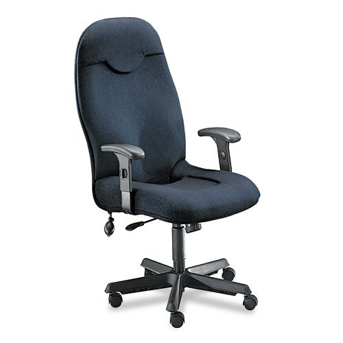 Comfort Series Executive High-Back Chair, Gray Fabric