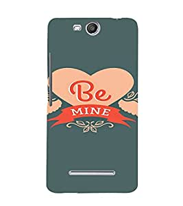 PrintVisa Be Mine Propose Love Design 3D Hard Polycarbonate Designer Back Case Cover for Micromax Canvas Juice3 Q392