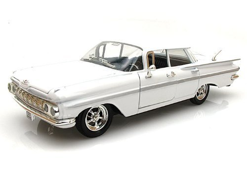 1959-chevrolet-impala-sedan-4-doors-white-1-32-by-arko-products-35901-by-arko-products