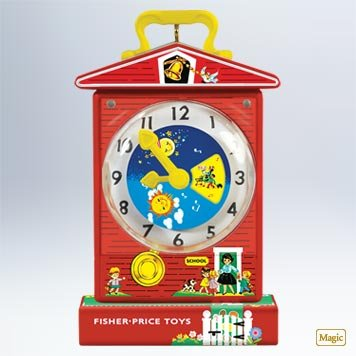 Hallmark 2011 Music Box Teaching Clock Fisher Price - QXI2459 - 1