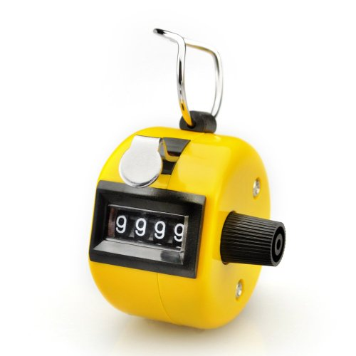 GOGO™ Yellow Hand Tally Counter, Cute ABS Tally Counter Clicker