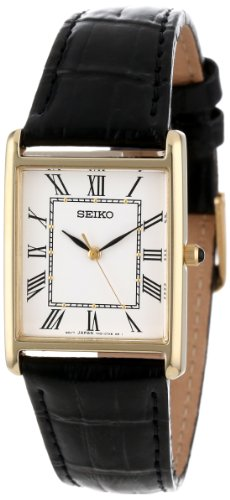 Seiko Men's SNF672 Dress Watch with Leather Band