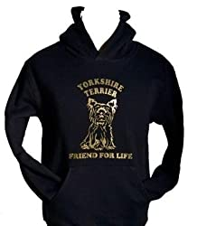 Yorkshire Terrier Dog Lover Hoodie Great Gift Black Size S-xxl