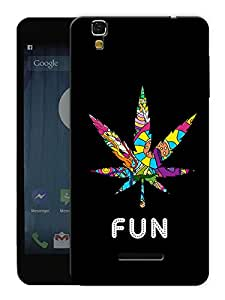"Humor Gang Grass Is Fun Printed Designer Mobile Back Cover For ""Yu Yureka Plus"" (3D, Matte, Premium Quality Snap On Case)"