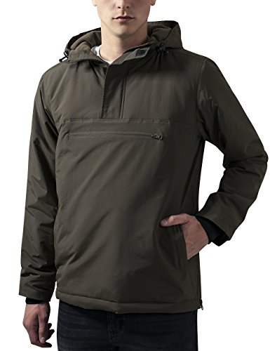Urban Classics Padded Pull Over Jacket, Giacca Uomo, Grün (Olive 176), Small